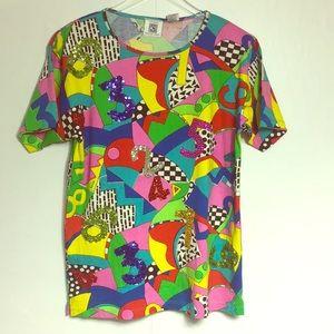 Vintage 80's Wearable Art Hip Hop top